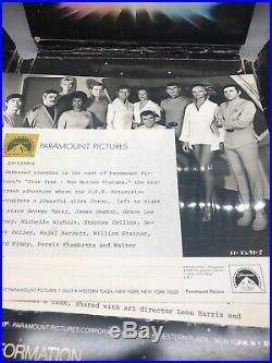 1979 STAR TREK THE MOTION PICTURE Auth original press kit With 8 Photos Pro Rare