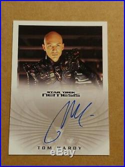 2002 Star Trek Nemisis Movie Tom Hardy as Shinzon NA3 autograph card RARE SWEET