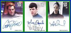 2009 Rittenhouse Star Trek The Movie 15 card autograph set JJ Abrams Chris Pine+