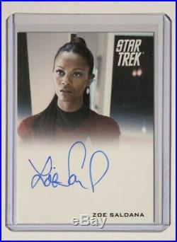 2009 Star Trek Movie Autograph Zoe Saldana as Uhura