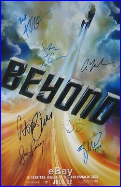 AUTOGRAPHED'Star Trek Beyond' (Cast Signed) Movie Poster + COA