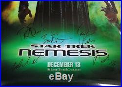 AUTOGRAPHED'Star Trek Nemesis' (Cast Signed) (27x40) Movie Poster + COA
