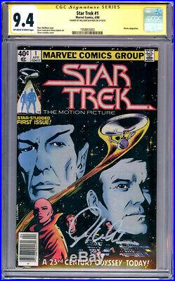 CGC SS 9.4 Signed William Shatner Star Trek #1 Marvel 1980 James T. Kirk Movie