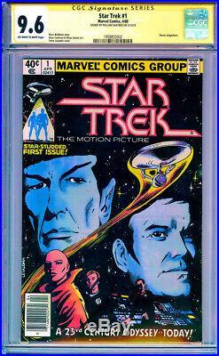 CGC SS 9.6 Signed William Shatner Star Trek #1 Marvel 1980 James T. Kirk Movie