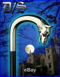 Dark Shadows Wolf Head Cane Tv Movie Prop Black Jonathan Frid Depp Trek