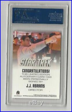J. J. Abrams Director 2009 Star Trek XI Movie Autograph Card Auto PSA 10 Gem Mint
