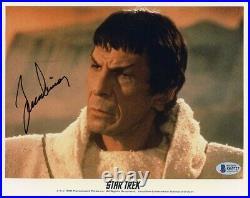 Leonard Nimoy Star Trek Autographed Signed 8x10 Photo Authentic Beckett BAS COA