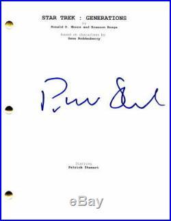 Patrick Stewart Signed Autograph Star Trek Generations Full Movie Script