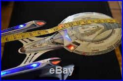 Pro Built LED Lighted withstand Star Trek USS Enterprise E Movie model