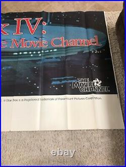 RARE Star Trek IV The Voyage Home 1988 Original Billboard Movie Poster