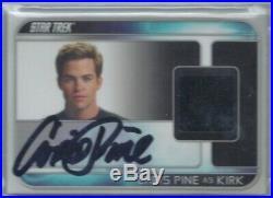 Rittenhouse Star Trek Movie Chris Pine As Kirk Costume Relic Auto Autograph /200
