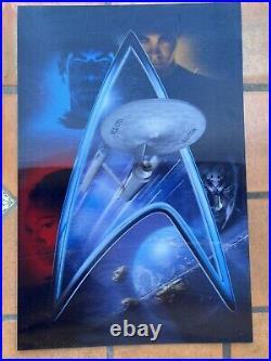 STAR TREK 2009 (2) Lenticular Movie Posters 24x36 each CHRIS PINE
