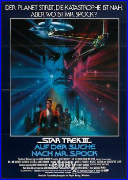 STAR TREK 3 THE SEARCH FOR SPOCK original RARE movie poster BOB PEAK artwork