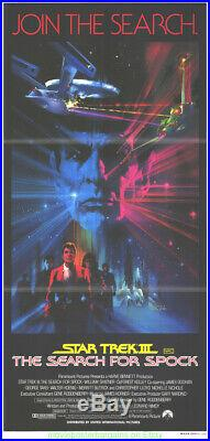 STAR TREK III MOVIE POSTER ORIGINAL Folded AUSTRALIAN DAYBILL RARE ART