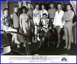 STAR TREK Shatner, Takei, Kelley, Barrett & Nimoy Movie Photo Autographed