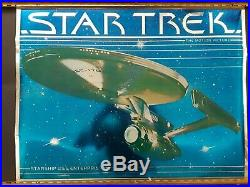 STAR TREK THE MOTION PICTURE U. S. S. ENTERPRISE MYLAR POSTER (1979) Pure beauty