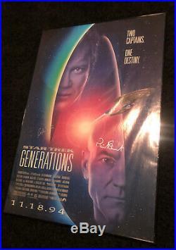 Signed/Authenticated STAR TREK Generations 1994 Movie Poster William Shatner Pat