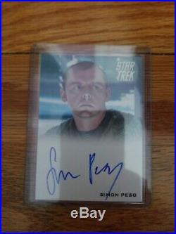 Simon Pegg Scotty 2009 Rittenhouse STAR TREK XI Movie Autograph Card Auto
