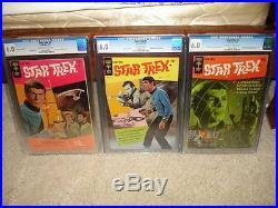 Star Trek #1 2 3 CGC 6.0 SET! Gold Key 1967 Spock Shatner! Movie! Cm
