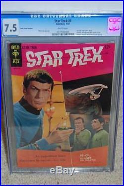 Star Trek #1 CGC 7.5 1967 William Shatner! Movie! WP! 175 B2 cm