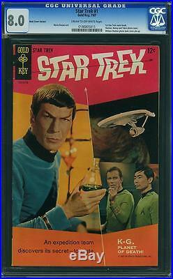 Star Trek #1 CGC 8.0 1967 William Shatner! Movie! SALE! 185 B5 cm