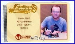 Star Trek #14 Cgc 9.8 Signature Series Signed Simon Pegg Scotty Movie Idw