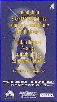 Star Trek 1994 Skybox Generations Movie #0 Mnba Credit Card Exclusive Promo Card