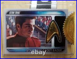 Star Trek 2009 Movie Starfleet Cadet Badge Pin Relic RC2 32/65 6 Case Incentive