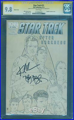 Star Trek 21 CGC SS 9.8 Urban Bradstreet 2X Signed Into Darkness 1 Movie