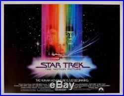 Star Trek 22x28 Rolled Original Movie Poster 1978 Half Sheet Bob Peak Art