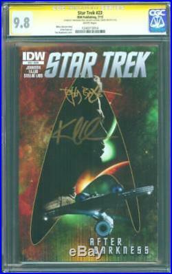 Star Trek 23 CGC 2XSS 9.8 Karl Urban Tim Bradstreet Signed Into Darkness 1 Movie