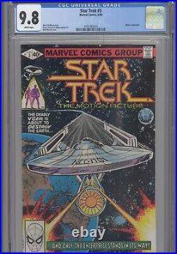 Star Trek #3 CGC 9.8 1980 Marvel Comic Movie Adaptation Wolfman Story New Frame