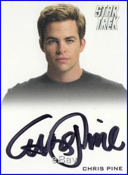 Star Trek Beyond Movie Chris Pine (captain Kirk) Autograph Star Trek Design VL
