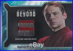 Star Trek Beyond Movie Sr4 Scotty Costume Uniform Relic Rare Gold Cuff Variant