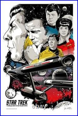 Star Trek Enterprise NCC-1701 Kirk Movie Poster Print Art 24x36 SIGNED Mondo