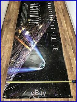 Star Trek First Contact Original Vintage Movie Canvas 8 X 3 Foot NEW VINTAGE
