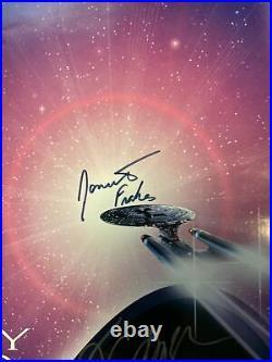 Star Trek Generations Multi Signed 27x40 Double Sided Movie Poster Shatner