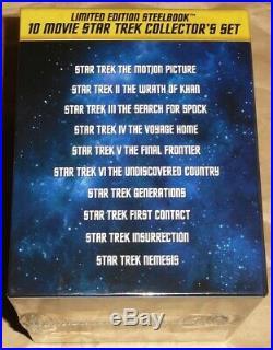 Star Trek I-X Movie 50th Anniversary BOX Blu-ray Steelbook from Japan NEW