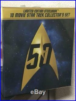 Star Trek I-X Movie 50th Anniversary BOX Blu-ray Steelbook theatrical version