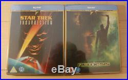 Star Trek I -X Movie Collection Blu Ray Steelbook UK Ltd Ed Box Set NEW