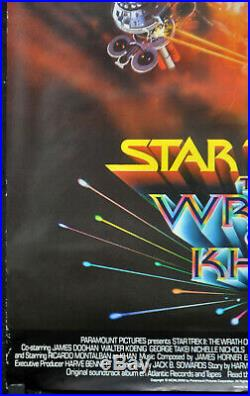 Star Trek II Wrath Of Khan 1982 Original 27x40 Uk Movie Poster William Shatner