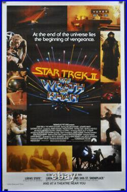 Star Trek II Wrath Of Khan 1982 Original 30x46 Rolled 1/2-subway Movie Poster