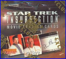 Star Trek INSURRECTION Movie Sealed CASE of 6 boxes