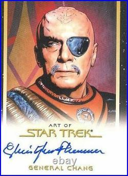 Star Trek Inflexions Movie Art Autograph Card Christopher Plummer General Chang