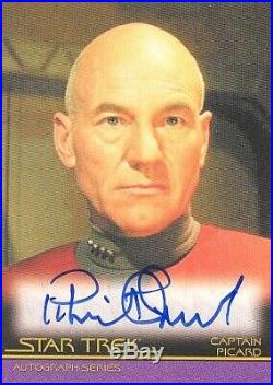 Star Trek Inflexions Movie Autograph Card A133 Patrick Stewart As Captain Picard