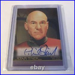 Star Trek Inflexions Patrick Stewart As Captain Picard Movie Autograph Card A133