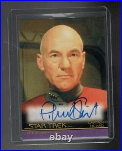 Star Trek Inflexions Patrick Stewart Movie Design autographed card