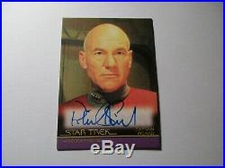 Star Trek Inflexions Starfleet's Finest Patrick Stewart Movie Autograph A133