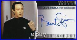 Star Trek Insurrection The Movie Autograph Card A-3 Brent Spiner As Lt. Data