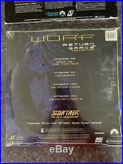 Star Trek Lot 3 LD Laserdisc Sealed New Worf The Motion Picture Deep Space Nine